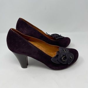 Chie Mihara Suede Leather Anthropologie Pumps size 39.5 EU size 9.5 US